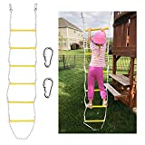 Xben 7.5' Rope Ladder with 2 Hooks for Kids & Adults, Climbing Game for Swing Accessories, Tree House, Playground, Play Set