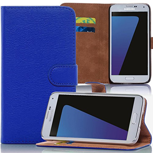 numerva Huawei Ascend Y530 Hülle, Schutzhülle [Bookstyle Handytasche Standfunktion, Kartenfach] PU Leder Tasche für Huawei Ascend Y530 Wallet Hülle [Blau]