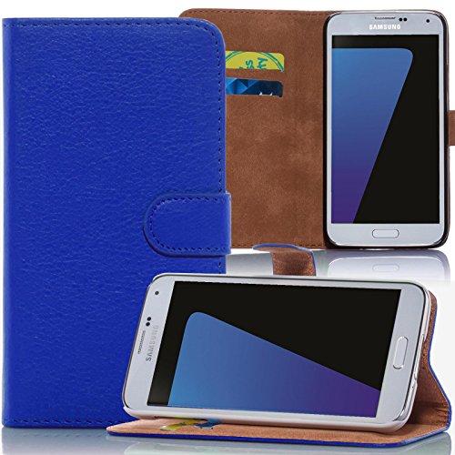 numerva Huawei Ascend Y530 Hülle, Schutzhülle [Bookstyle Handytasche Standfunktion, Kartenfach] PU Leder Tasche für Huawei Ascend Y530 Wallet Case [Blau]
