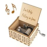 Ucuber Music Box I Love You Gift, Wood Laser Engraved Elvis Presley Gifts Cute Boxes Gift | Can't Help Falling in Love | Best Gifts for Wedding Day/Christmas Day/Birthday