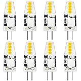 Lámparas LED G4, 2W 200LM Bombillas LED G4 No regulable Lámpara con base de clavija de fuente de luz La bombilla reemplaza la lámpara halógena de 20W, sin parpadeo, 360 °Ángulo de luz 12V CA/CC, p