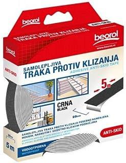 Black Anti-slip Adhesive Tape 25mm x 5m - Beorol