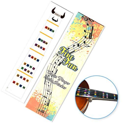 Guía de dedo para violín FineFun, pegatina para tabla de dedos tamaño 4/4,3/4, 2/1,4/1,8/1,10/1