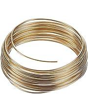 Aluminium draad, Ø 2 mm, 5 m / ~ 42 g, goud