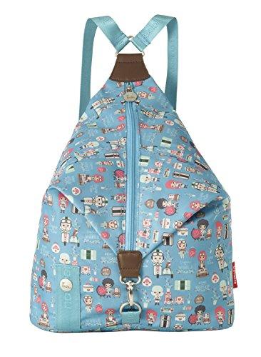 Travelite Lil'Ledy Buntes Reisegepäck/Soft-Rucksack/Kindertrolley/Handtasche/Reisekoffer, Weichschale, Hartschale, in Kawaii Optik, 30 cm, 14 l, türkis
