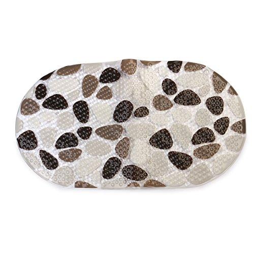 VORCOOL Plancher de PVC souple anti-dérapante tapis tapis de bain tapis moquettes (marron + noir + blanc)