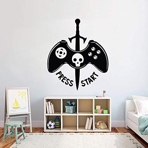 Juego de pegatinas de pared Eat Sleep Game Pegatinas de pared Controlador de videojuegos Dormitorio Pegatinas de pared personalizadas Vinilo Arte de la pared