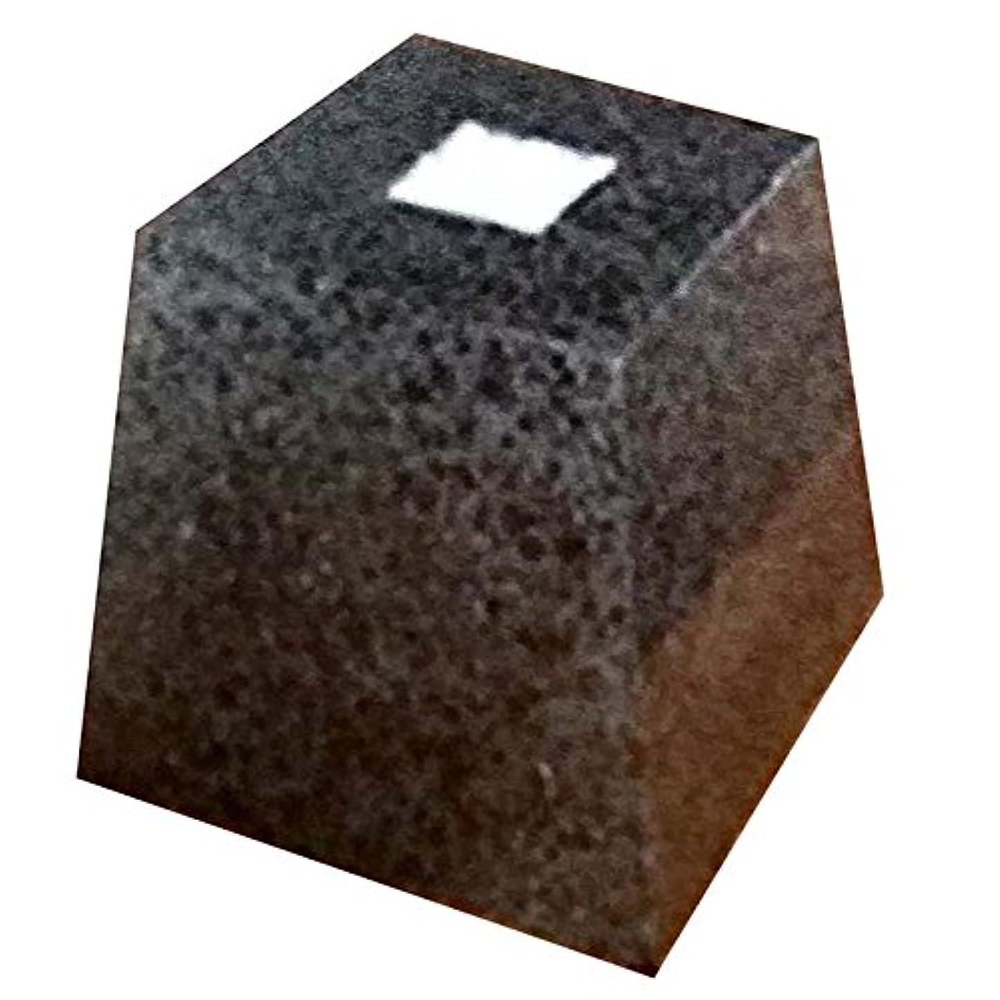 重荷備品パンダ御影石 柱受 黒 角 4寸 上120×底180×高200 アミ代不