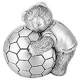 【𝐁𝐥𝐚𝐜𝐤 𝐅𝐫𝐢𝐝𝐚𝒚】 Sartén, aleación Personalizada pequeño Oso Elegante con Forma de fútbol Duradero para Sala de Estar Dormitorio Oficina decoración del hogar Caja de Dinero de Regalo