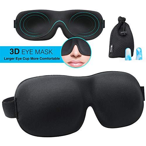 Sleep Mask for Woman & Man, BearMoo 3D Countered Sleeping...