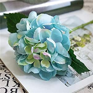ShineBear Artificial Flowers Hydrangea Silk Mini Sweet Pea Flower dekor Plant Bouquet Fake Flowers Garden Decor for Home Crafting