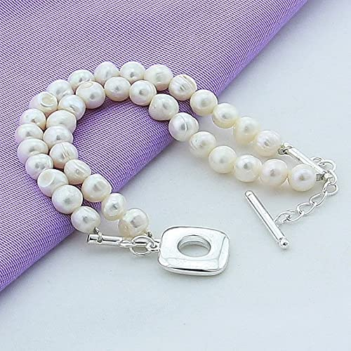 Luxury 925 Silver Charm Bracelet Fashion Freshwater depot Max 66% OFF Pear Natural