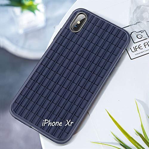 Zwarte siliconen rolgordijn voor iPhone X/XS/XR, ultradun, ademend, warmteafvoer, Breathe afdekking van de telefoon inclusief – schokbestendig tegen vallen AA