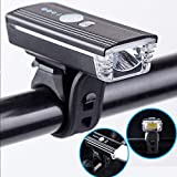 MY-COSE USB Rechargeable Bike Light,Led bicycle Headlight,300 Lumens Speaker And Split Speaker Button,For