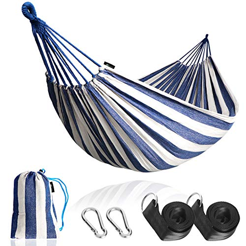 Anyoo Single Cotton Outdoor Hammock Multiples Load Capacity Up to