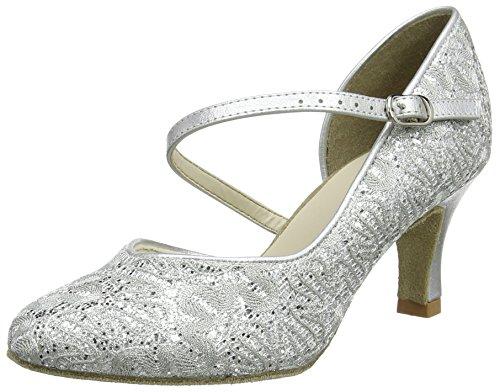 So Danca Damen Standard & Latein Tanzschuhe - Standard & Latein Bl504, Silber (Silver Sparkle), 41.5 EU (11 US)