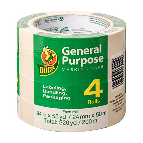 Duck Brand General Purpose Masking Tape .94 in x 55 yards - 4 Pack by Duck