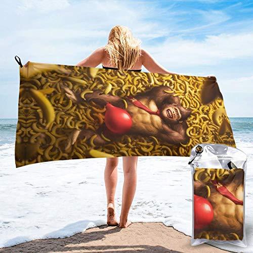Toalla de piscina de microfibra Son-Ic de 27.5 x 55 pulgadas, colorido al aire libre viaje toallas de secado rápido para adultos