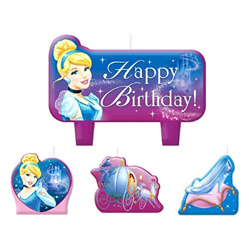 Mini Molded Cake Candles | Disney Cinderella Collection | Party Accessory