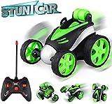 baztoy voiture télécommandée, jouets enfants voiture rc rotation à 360 ° mini stunt car voiture