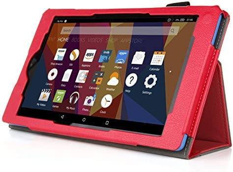 Case for All-New Fire 7 2017 – Premium Folio Case for All-New Fire 7 Tablet with Alexa 7th Generation – (Red)