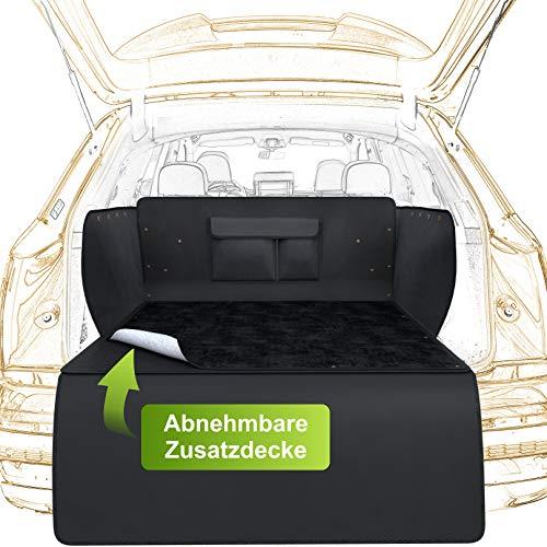 WhizProducts Kofferraumschutz Hund mit Abnehmbarer Zusatzdecke - Hundedecke Auto Kofferraum inkl. abnehmbarem Stoßstangenschutz
