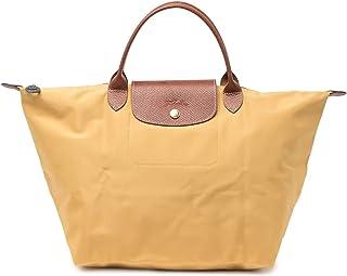LONGCHAMP Original Le Pliage Nylon Medium Top Handle Tote Bag, Honey