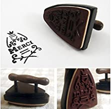 1 Piece Clear Stamps New Vintage Iron Shape French Merci Stamp DIY Gift Wooden Stamps For Scrapbooking - Small Wooden Stamps