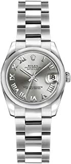Rolex Lady-Datejust 26 179160 Rhodium Dial on Oyster Bracelet 26mm Watch