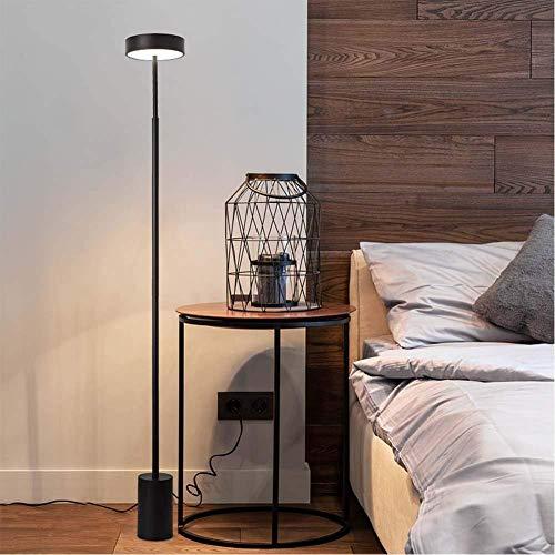 NIYAYADE Moderne eenvoud staande lamp LED driekleurig dimijzer soort + acryl lampenkap diameter * 20 cm hoogte * 160 cm werkkamer leestafel bureau lichtgrijs