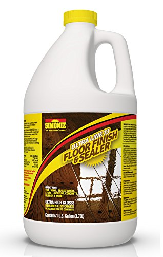 Ultra HIGH Gloss 33% Solids Floor Finish Wax - 1 Gallon (More Durable, Less Coats, Less Labor)