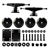 VJ 5.25 139mm Skateboard Trucks (Black), Skateboard Wheels 52mm, Skateboard Bearings, Skateboard Pads, Skateboard Hardware 1.25' (52mm Black)…