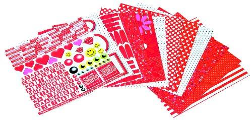 Karen Marie Klip, Papierblock Rot/Weiß, 30,5x30,5 cm, 12 Bogen