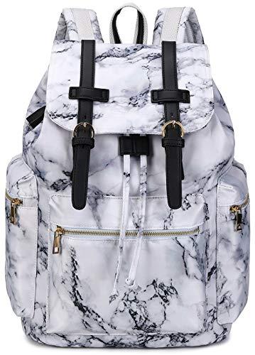 laptop bags for teen girls Girls School Backpack Women College Bookbag Lady Travel Rucksack 15.6Inch Laptop Bag (A-Marble)