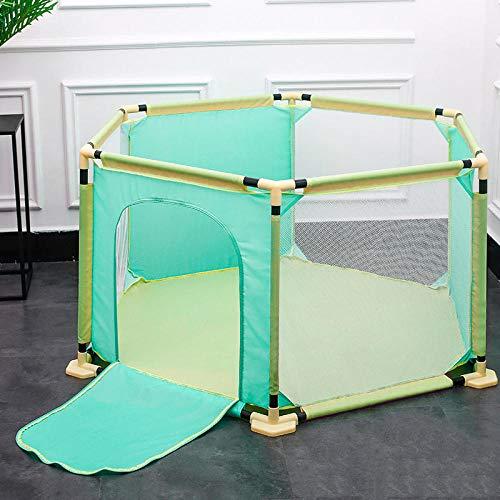 mächtig Unbekannt 22sq.  Ft.  Grüne und gelbe Pop-up-Ballbox mit atmungsaktivem Netz, 6 quadratischen Sandkissen…