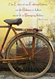 Notizbuch A4 - kariert 'Das Leben ist wie Fahrrad fahren (...): DIN A4 - Tagebuch