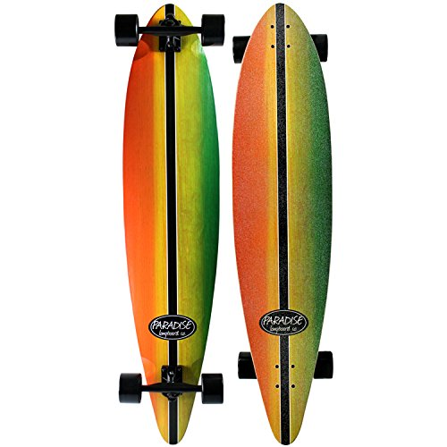Paradise Maple Pintail Longboard Complete Rasta Stain Concave