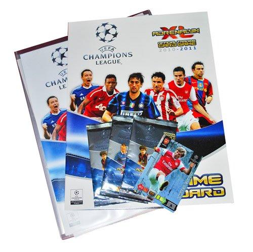 Champions League Adrenalyn Fußball Trading Karten Starter Pack Binder