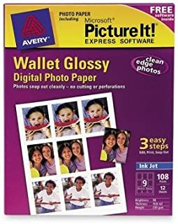 Avery 53283 Wallet Size Digital Photo Glossy Paper