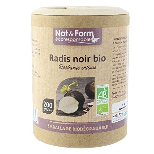 Nat & Form - Nat&form Ecoresponsable Radis Noir Bio 200 Gelules