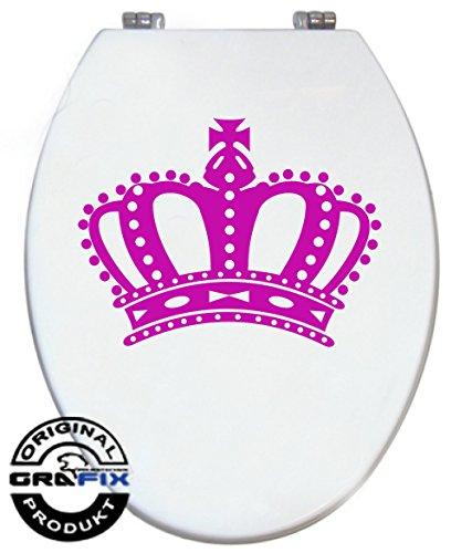 Aufkleber PINK Krone für Pressalit WC Toiletten Deckel