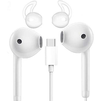 Écouteurs Intra Auriculaires, Losvick Ecouteurs USB Type C Casque Haute Qualité Audio avec Microphone et Touches Volume pour Huawei P20P30 ProMate