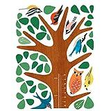 Wallies Wall Decals, Woodland Tree Growth Chart Wall Sticker, 17-1/4-inch x 55-inch
