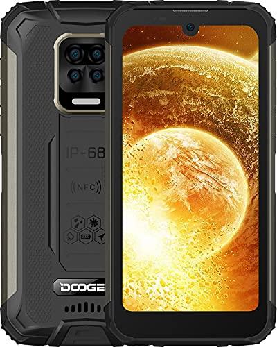 DOOGEE S59 (Offiziell) Outdoor Handy 10050mAh Smartphone Ohne Vertrag 2W Super Lautsprecher 16MP 4 Kamera 4 LED Blinkt 4GB RAM 64GB ROM Android 10 NFC IP68/IP69K [2021] (Schwarz)