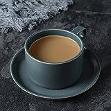 Li jing home Taza Taza de café Taza de cerámica Taza Taza de Desayuno Taza de Leche Termo Lindo té perfumado Leche café Oficina protección del Medio Ambiente café (Color : Ink Blue)