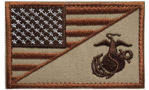 U-LIAN Marine Corps Tactital Patch USMC EGA Patch American Military Flag Morale Badge Patch Hook and Loop