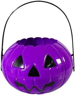 Pumpkin Candy Holder Mini Trick-or-treat Halloween Candy Bucket Halloween Candy Good Pumpkin Bucket - Purple