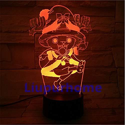 Cartoon Anime Cartoon Anime Character 3D Lampe De Table Led De Veilleuse, 7 Couleur Tactile Art Déco Lampe Maison Chambre Bureau Décor Pour Enfants D'Anniversaire De Noël Cadeau