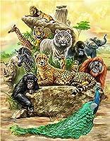 ジグソーパズル1500ピース木製パズル家族の装飾森の動物ティーンエイジャーと大人に適したユニークな誕生日プレゼント 87x57cm