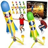 YEEBAY Rocket Air Launch Toy for Kids Age of 3, 4, 5, 6, 7, 8+ Years Old Boys, Girls, 2 Pack Stomp...